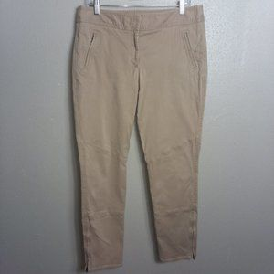 Talbots Signature Cropped Zip Ankle Pants Size 12